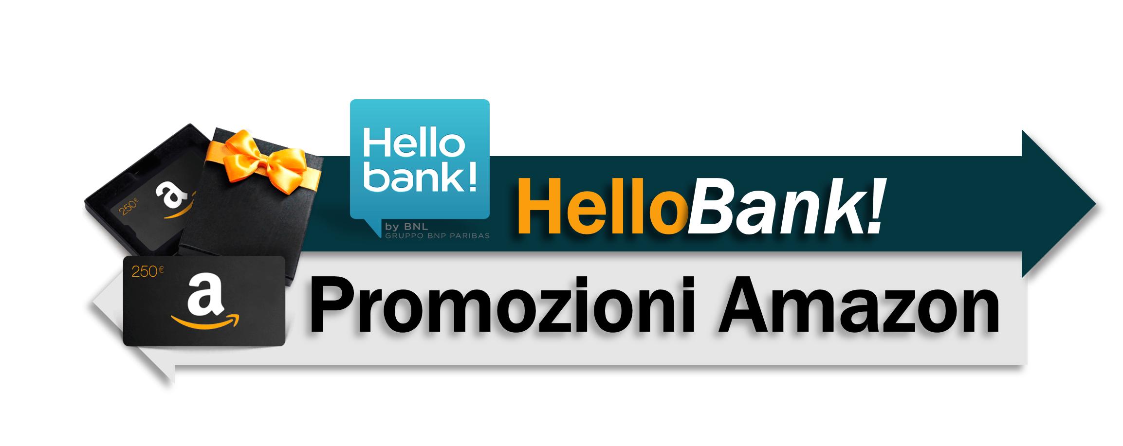 Promozione hello bank amazon