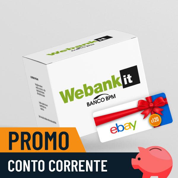 Webank regala 120€ in buoni Ebay