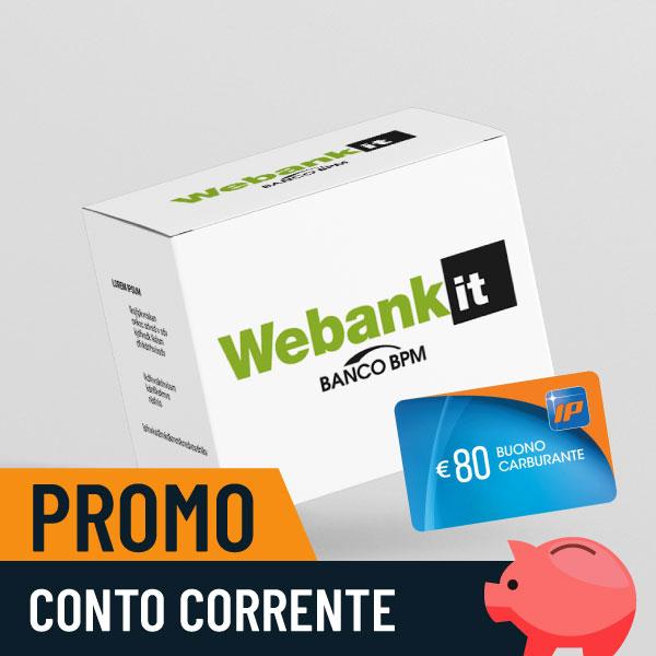 Fai il pieno con Webank: in regalo 80€ in buoni IP